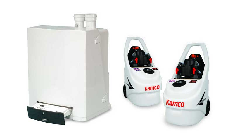 Kamco CLEARFLOW power flush will clean out your boiler system, leaving it more efficient and reliable.